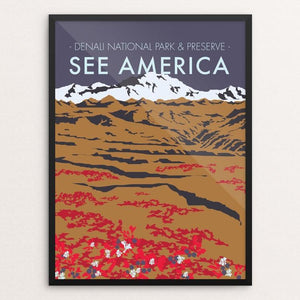"Denali National Park by Jenn Woodham 18"" by 24"" Print / Framed Print See America"