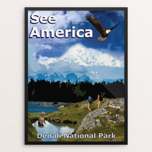 "Denali National Park by Zack McKinley 12"" by 16"" Print / Framed Print See America"