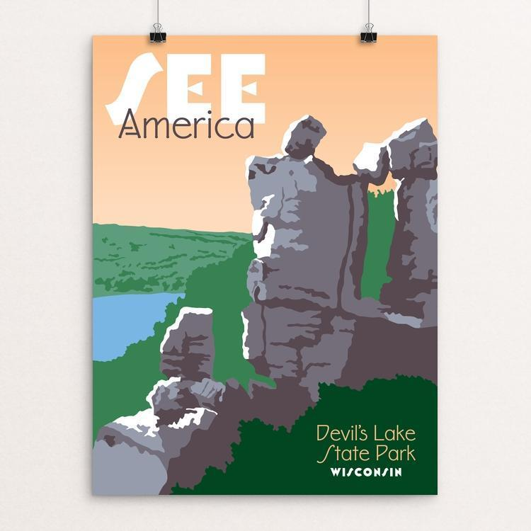 "Devil's Lake State Park by Kevin Rau 12"" by 16"" Print / Unframed Print See America"