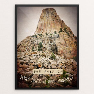 "Devils Tower 1 by Bryan Bromstrup 12"" by 16"" Print / Framed Print See America"