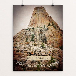 "Devils Tower 1 by Bryan Bromstrup 12"" by 16"" Print / Unframed Print See America"