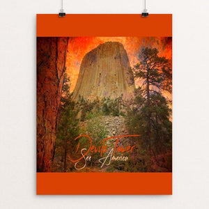 "Devils Tower 2 by Bryan Bromstrup 12"" by 16"" Print / Unframed Print See America"
