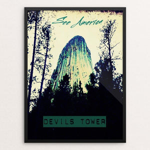 "Devils Tower 3 by Bryan Bromstrup 12"" by 16"" Print / Framed Print See America"
