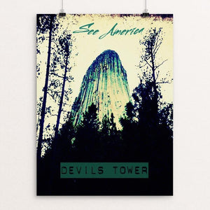 "Devils Tower 3 by Bryan Bromstrup 12"" by 16"" Print / Unframed Print See America"