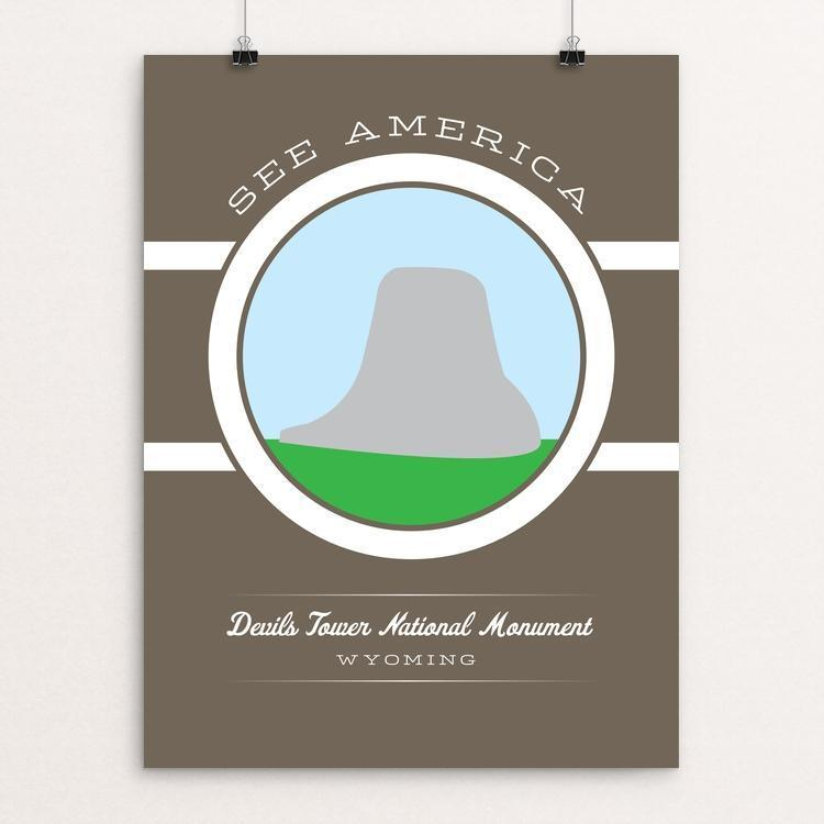 "Devils Tower National Monument by Brandon Kish 12"" by 16"" Print / Unframed Print See America"