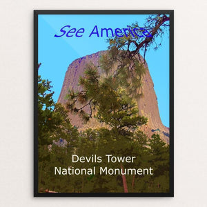 "Devils Tower National Monument by Rodney Buxton 12"" by 16"" Print / Framed Print See America"