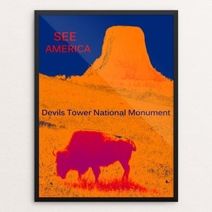 "Devils Tower National Monument by Thomas Besom 12"" by 16"" Print / Framed Print See America"