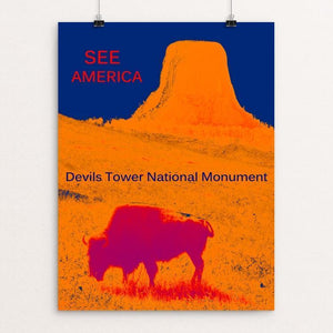 "Devils Tower National Monument by Thomas Besom 12"" by 16"" Print / Unframed Print See America"