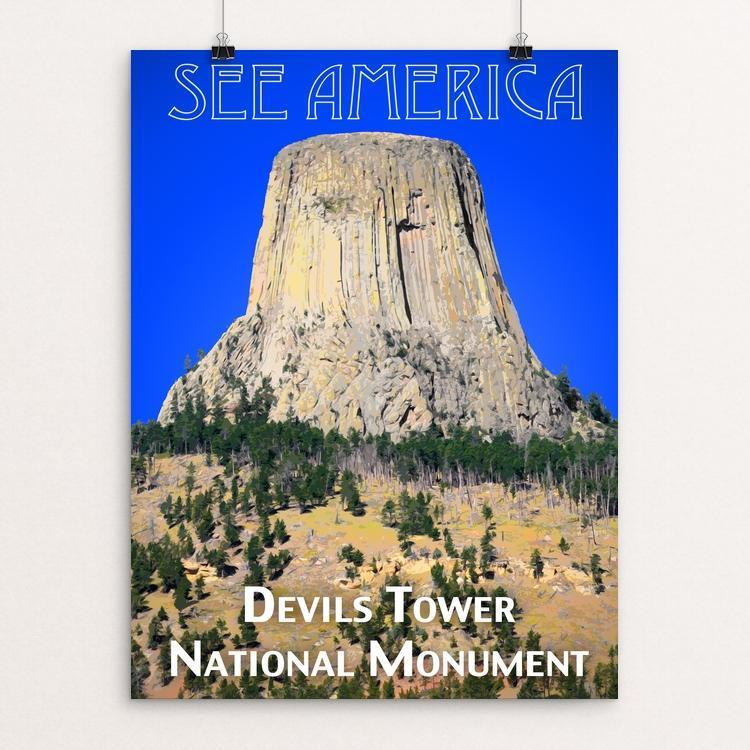 "Devils Tower National Monument by Zack Frank 12"" by 16"" Print / Unframed Print See America"