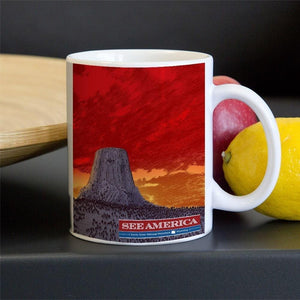 Devils Tower National Monument Mug by Brixton Doyle