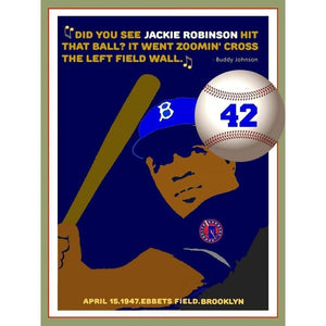 Did you see Jackie Robinson hit that Ball? by Bob Rubin