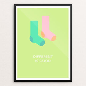 "Different Is Good by Blair Strong 12"" by 16"" Print / Framed Print Creative Action Network"