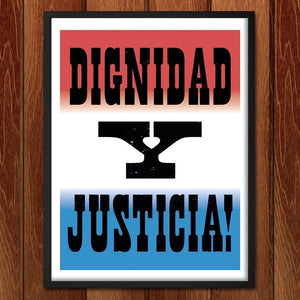 "Dignidad - Seven by Mr. Furious 12"" by 16"" Print / Framed Print Migration Nation"