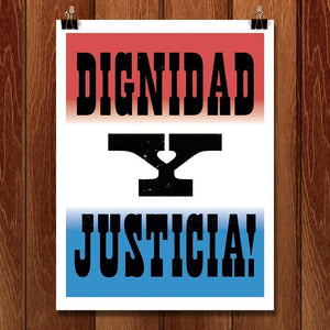 "Dignidad - Seven by Mr. Furious 12"" by 16"" Print / Unframed Print Migration Nation"