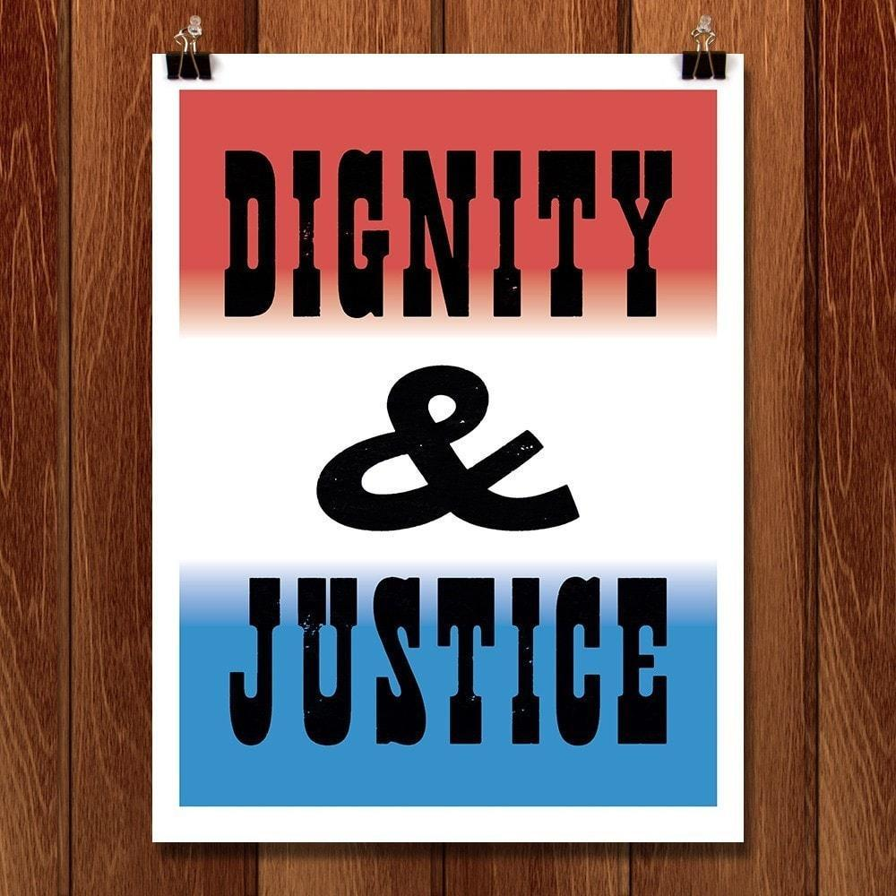 "Dignity - Seven by Mr. Furious 12"" by 16"" Print / Unframed Print Migration Nation"