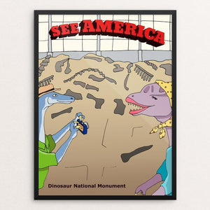 "Dinosaur National Monument by Daisy Patton 12"" by 16"" Print / Framed Print See America"