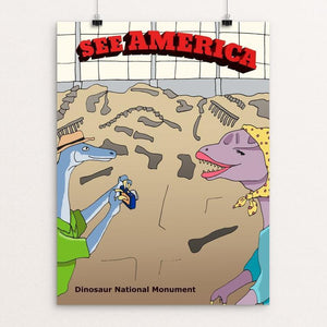 "Dinosaur National Monument by Daisy Patton 12"" by 16"" Print / Unframed Print See America"