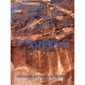 "Dinosaur National Monument by Melody Gilmore 18"" by 24"" Print / Unframed Print See America"