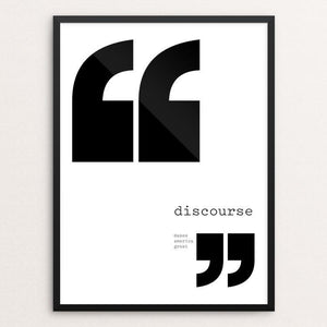 "Discourse by Abby Matousek 12"" by 16"" Print / Framed Print What Makes America Great"