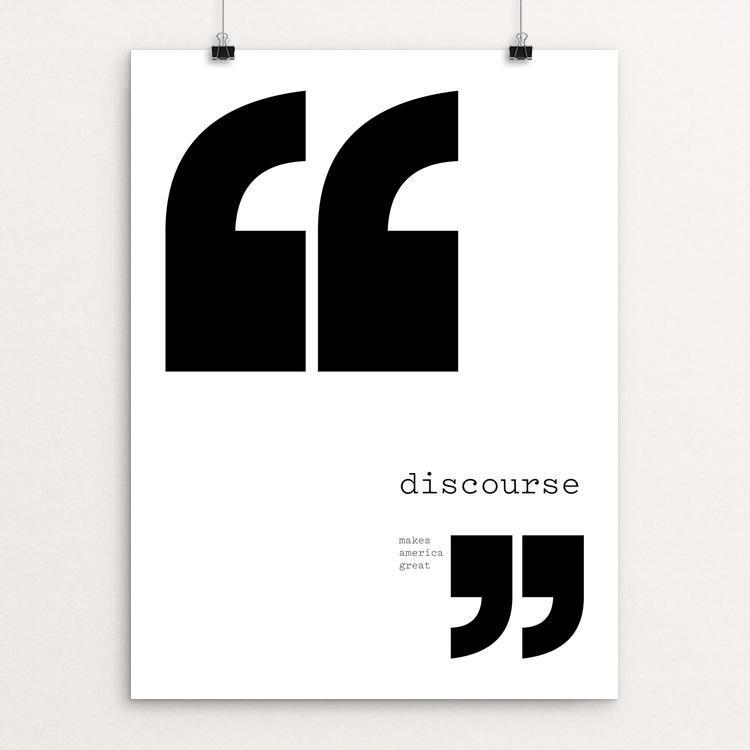 "Discourse by Abby Matousek 12"" by 16"" Print / Unframed Print What Makes America Great"