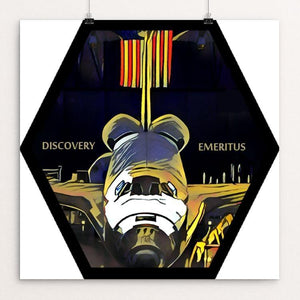 "Discovery Emeritus by Bryan Bromstrup 12"" by 12"" Print / Unframed Print Space Horizons"