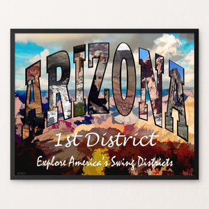 "District 1 Arizona by Sheri Emerson 20"" by 16"" Print / Framed Print Postcards from America's Swing Districts"