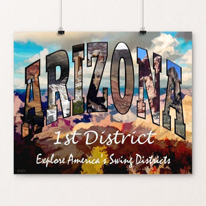 "District 1 Arizona by Sheri Emerson 20"" by 16"" Print / Unframed Print Postcards from America's Swing Districts"