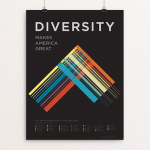 "Diversity by Corbet Curfman 12"" by 16"" Print / Unframed Print What Makes America Great"