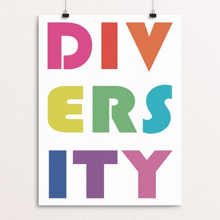 "DIVERSITY by Holly Savas 12"" by 16"" Print / Unframed Print Creative Action Network"