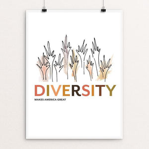 "Diversity by Livia Veneziano 12"" by 16"" Print / Unframed Print What Makes America Great"