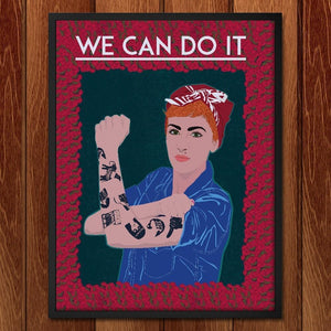 "Domestic Worker by John Conlon 12"" by 16"" Print / Framed Print We Can Do It!"