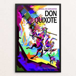 "Don Quixote by Wedha Abdul Rasyid 12"" by 18"" Print / Framed Print Recovering the Classics"