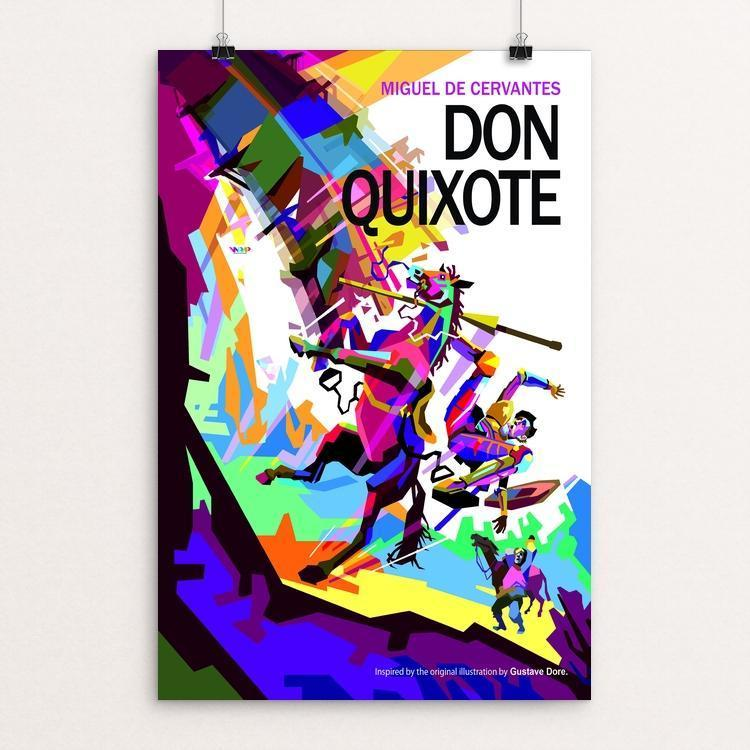 "Don Quixote by Wedha Abdul Rasyid 12"" by 18"" Print / Unframed Print Recovering the Classics"