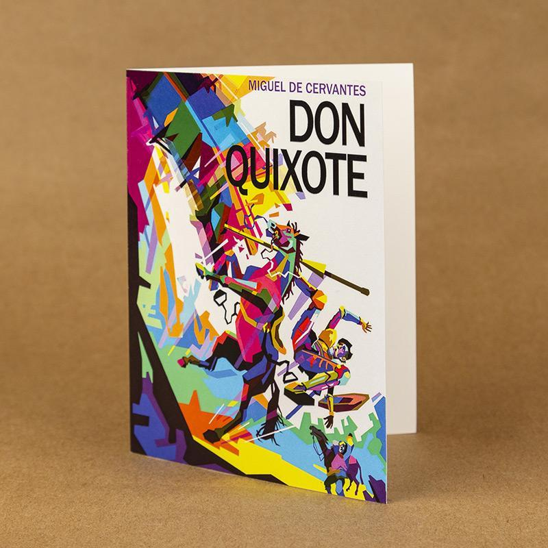 Don Quixote Notecard by Wedha Abdul Rasyid 4.25x5.5 inch Notecard Recovering the Classics