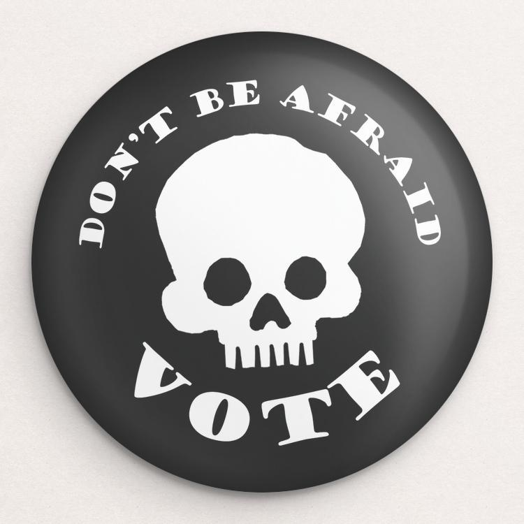 Don't Be Afraid Button by Lisa Vollrath