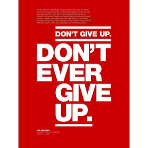 "Don't Ever Give Up by Andrew Lynne 18"" by 24"" Print / Unframed Print Transcend - Moments in Sports that Changed the Game"