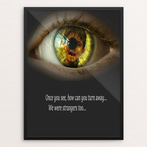 "Don't Look Away by Sierranne 12"" by 16"" Print / Framed Print We Were Strangers Too"