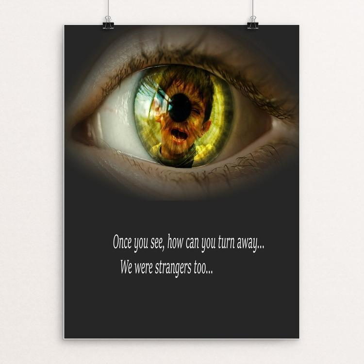 "Don't Look Away by Sierranne 12"" by 16"" Print / Unframed Print We Were Strangers Too"