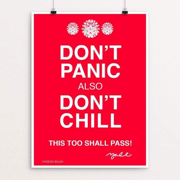 "Don't Panic by Yadesa Bojia 18"" by 24"" Print / Unframed Print Creative Action Network"