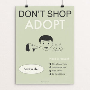 "Don't Shop-Adopt II by Meredith Watson 12"" by 16"" Print / Unframed Print Creative Action Network"
