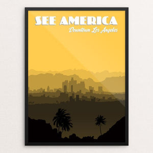 "Downtown Los Angeles by Lana LimÌ_n 12"" by 16"" Print / Framed Print See America"