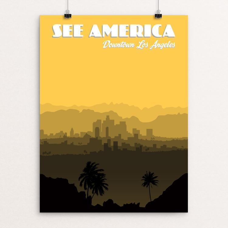 "Downtown Los Angeles by Lana Limón 12"" by 16"" Print / Unframed Print See America"