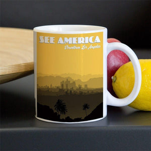 Downtown Los Angeles Mug by Lana Limón 11oz Mug See America