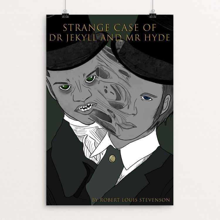 "Dr. Jekyll and Mr. Hyde by Lauren Tomlinson 12"" by 18"" Print / Unframed Print Recovering the Classics"
