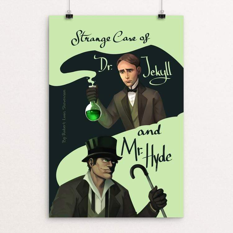 "Dr Jekyll and Mr Hyde by Penpitcha Kruekuenpet 12"" by 18"" Print / Unframed Print Recovering the Classics"