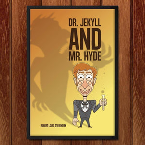 "Dr. Jekyll and Mr. Hyde by Roberlan Borges 12"" by 18"" Print / Framed Print Recovering the Classics"