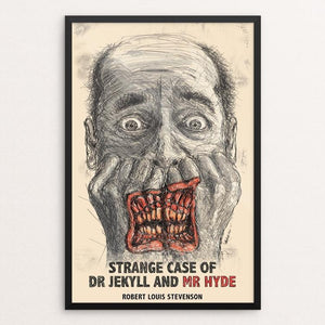 "Dr Jekyll and Mr Hyde by Wojciech Kasprowicz 12"" by 18"" Print / Framed Print Recovering the Classics"