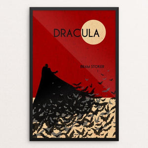 "Dracula by Becki Kozel 12"" by 18"" Print / Framed Print Recovering the Classics"
