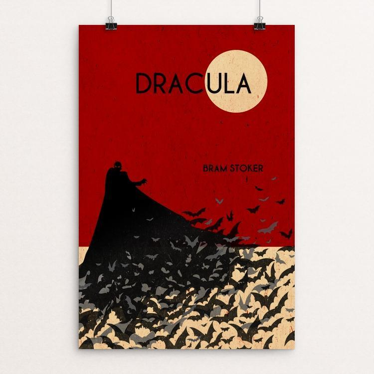 "Dracula by Becki Kozel 12"" by 18"" Print / Unframed Print Recovering the Classics"