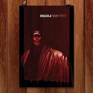 "Dracula by Brixton Doyle 12"" by 18"" Print / Unframed Print Recovering the Classics"